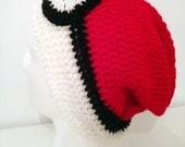Crocheted Pokéball Beanie | Pokemon Hat | Snowboard Slouchy Anime Cap