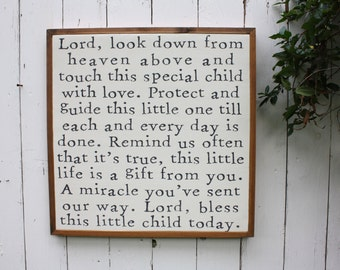Baby Blessing Sign