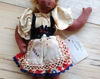 "Antique ""Lenci"" style cloth doll"