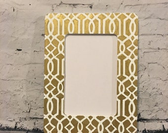 preppy patterned picture frame