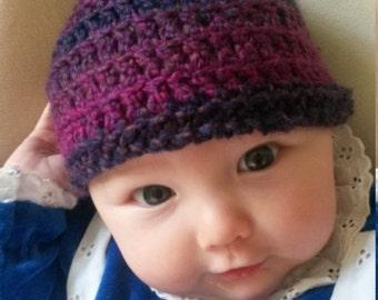 Newborn Pixie hat/0-3 months/elf/pointed/hand crocheted/baby hat/faerie/ fairy hat