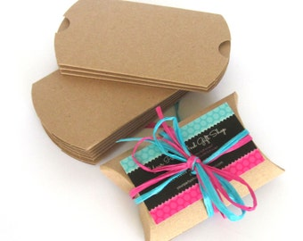 Pillow Boxes, 100 Gift Boxes, Paper Boxes, Small Boxes, Wedding Favor Boxes, Gift Card Boxes, Jewelry Boxes, Packaging