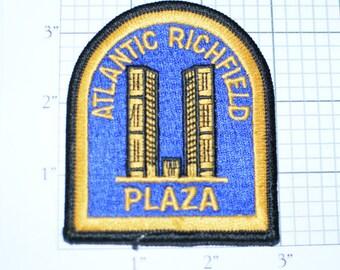 Atlantic Richfield Plaza - Vintage Clothing Patch - Los Angeles California Travel Patch Building Architecture Souvenir Memorabilia e14g