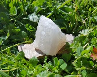 Clear Quartz Crystal Raw Rough Unpolished Geode