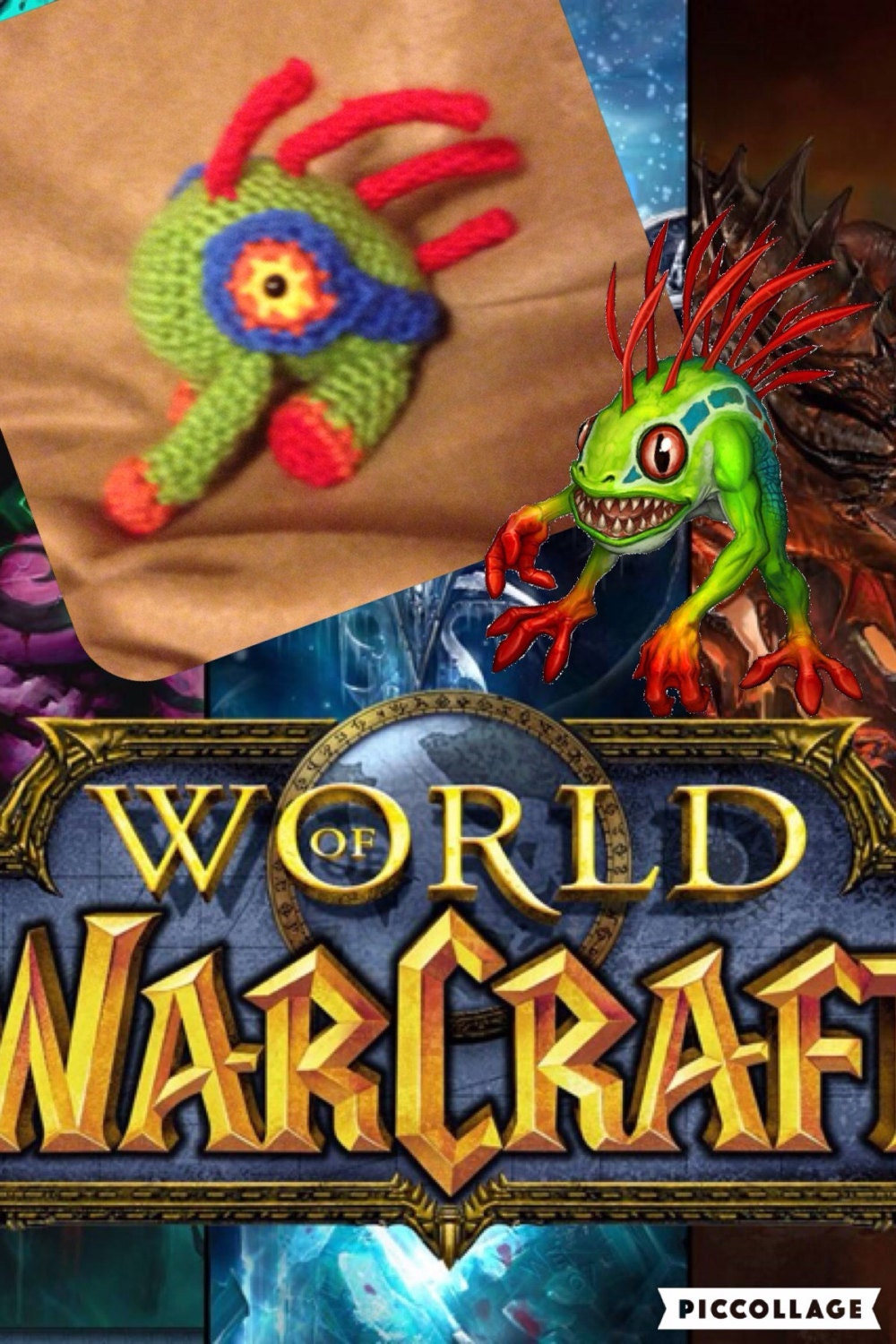 Baby Murloc amigurumi World of Warcraft-WOW stuffed toy