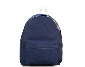 Denim Backpack (Dark Blue)
