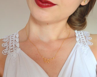 Molecule necklace gold, Serotonin necklace, Serotonin molecule necklace, Chemistry necklace, Science necklace, Geometric necklace