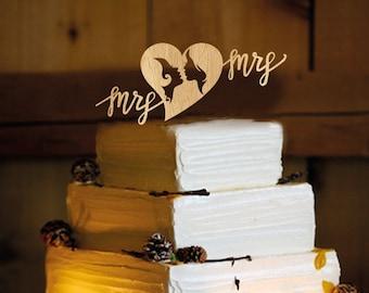 Lesbian Wedding Cake Topper - same sex wedding, lesbian wedding