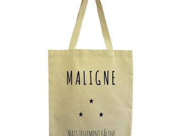 Tote bag malignant, fair cotton bag, Hindbag
