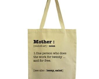 Tote bag Mum, cotton tote bag