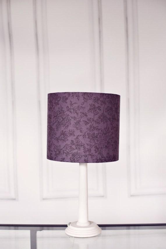 Grey lamp shade grey lampshade purple lamp shade table for Floor lamp with plum shade