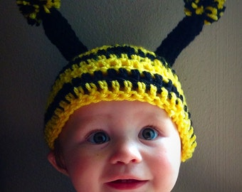 Crochet Bumble Bee Costume or Photo Prop