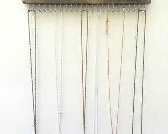 Necklace Holder, Wall Mount Jewelry Organizer