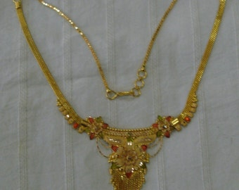 vintage antique 22kt gold necklace choker traditional jewelry