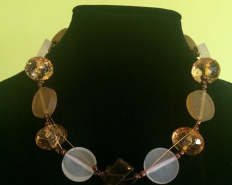 Floating Dawn Necklace Set. One of a kind.