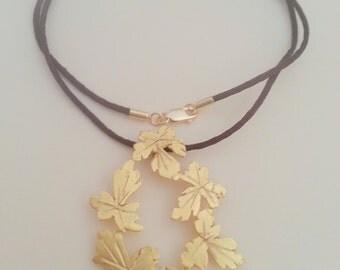 Grape leaves  pendant