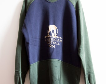 AMERICAN FOOTBALL 1934 Capel Week End sweat-shirt sweater size 114 L / XL