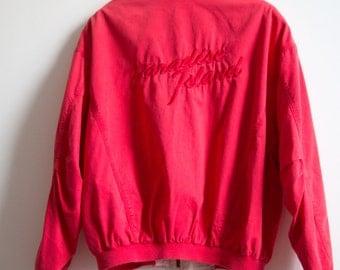 80's Women Red Paradise Island Jacket size M