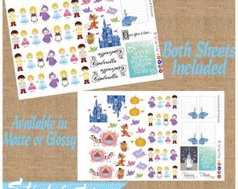 Cinderella & Friends Cute Planner Stickers