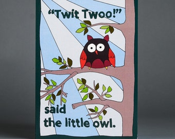 Twit Twoo Owl Blank Greeting Card