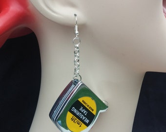 Measure this! Real tape measure earrings. 3 feet of awesome. Bring the tool with you everywhere.