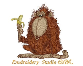 "Machine embroidery design ""Monkey"" - embroidery monkey"
