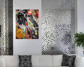 original modern abstract painting: Ubiquitous Complexity; modern fine art, 16x20x1;