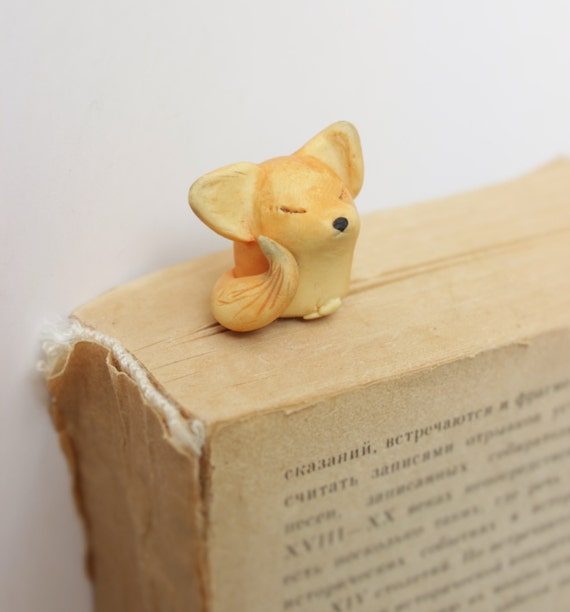 Fox Bookmark christmas gift cute animal miniature lovers for book gift idea  for kids woodland creatures planner accessories