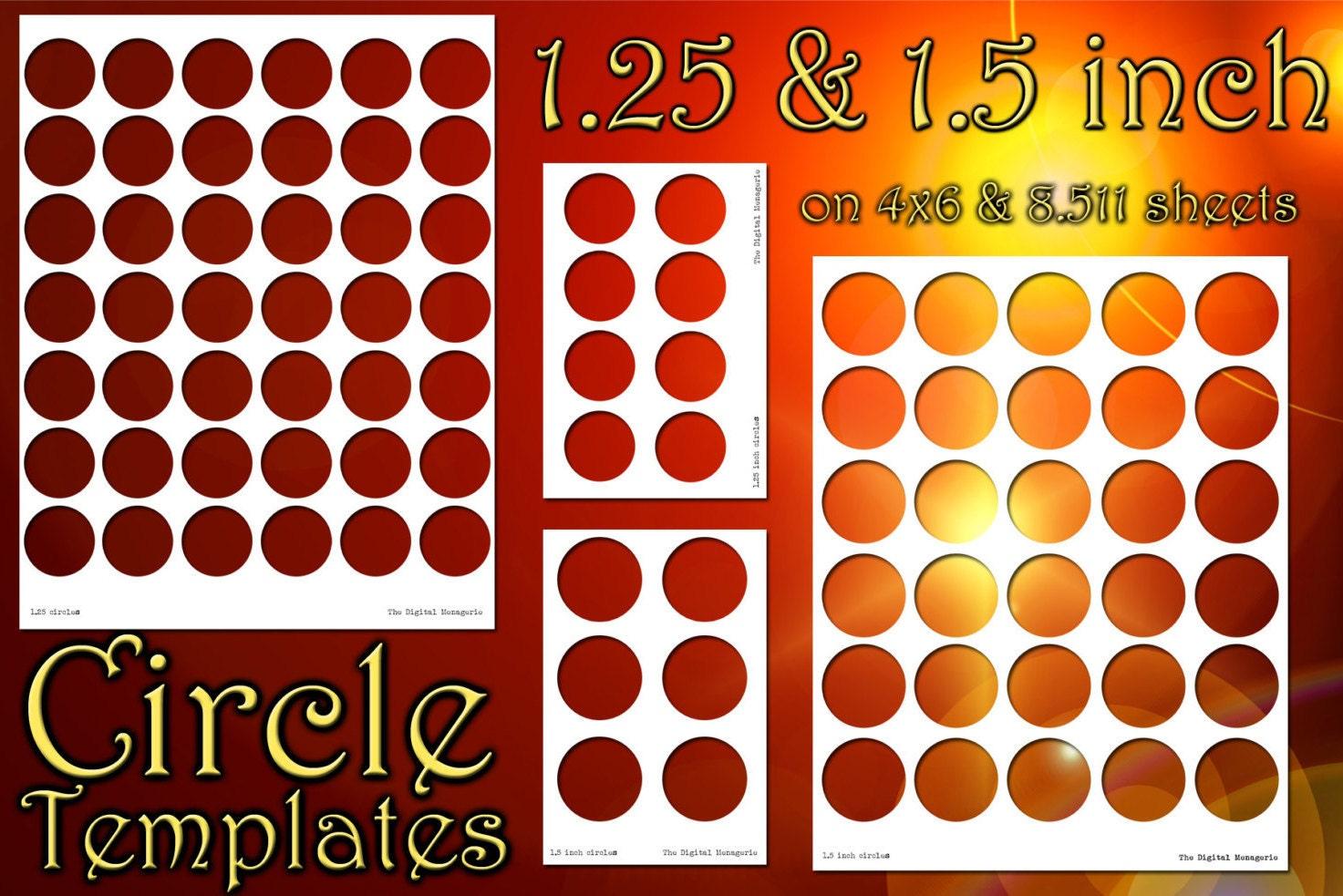 1 5 inch circle templates 4x6 sheets png
