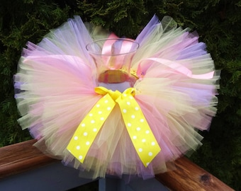 Yellow Tutu/Easter Outfit/Yellow Outfit/Toddler Easter Ouftif/Yellow Birthday Tutu/Baby Birthday Tutu/Cakesmash outfit/Baby Tutu/Infant Tutu