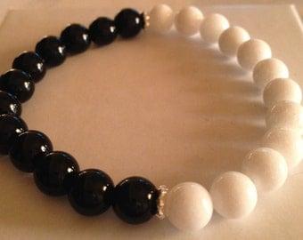 Stretch bracelet, jade bracelet, beaded bracelet, healing bracelet, boho bracelet, chakra bracelet, silverbymaggie, yoga bracelet, bracelets