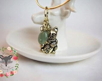 Maneki Neko Lucky Cat Charm Bracelet