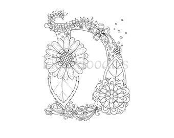 Floral letter d Etsy