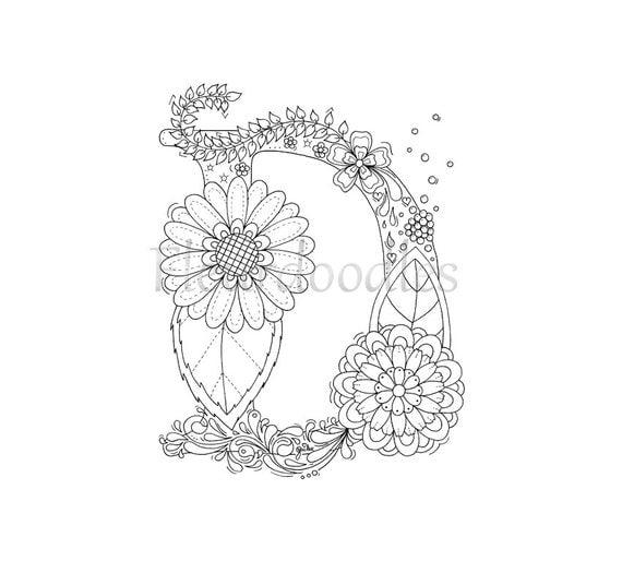malseite zum ausdrucken buchstabe d floral