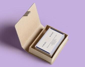 DESIGN ONLY | Blue Border Business Cards - Custom