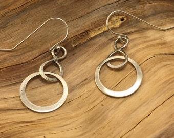 Handmade Sterling Dangle Earrings