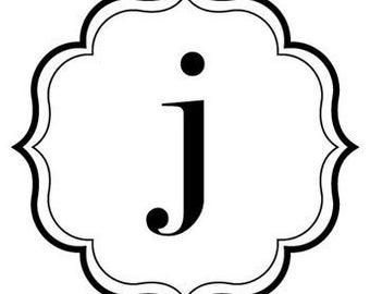 Customized vinyl monogram decal