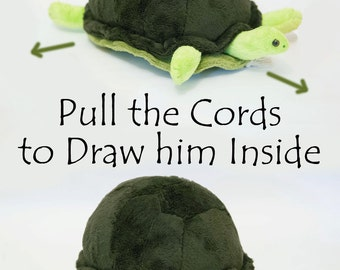 Turtle Softie PDF Sewing Pattern- Interactive Softie that goes In and Out // Zeno the Tortoise