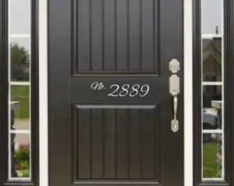 Front Door Address and Street Number wall decal Mailbox Decal