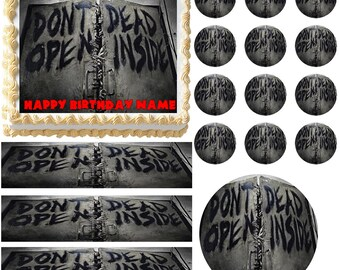 DEAD INSIDE ZOMBIES Party Edible Cake Topper Image Frosting Sheet Cake Decoration Many Sizes!