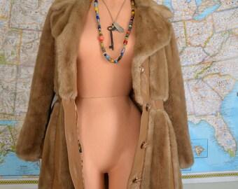 Vintage Faux Fur & Leather Coat
