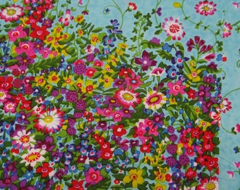 "Home Decor Fabric, Floral Print, Sewing Fabric, Quilt Material, Dress Fabric, Cotton Fabric, 43"" Inch Apparel Fabric By The Yard ZBC7101A"