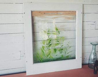 Vintage Tropical Window Painting