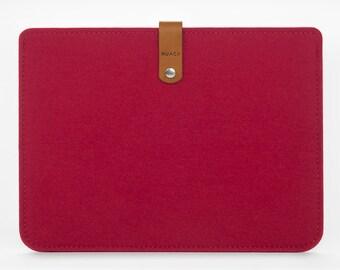 iPad Air Case - iPad Cover - iPad Air Cover - Felt Leather Sleeve - iPad Felt Case