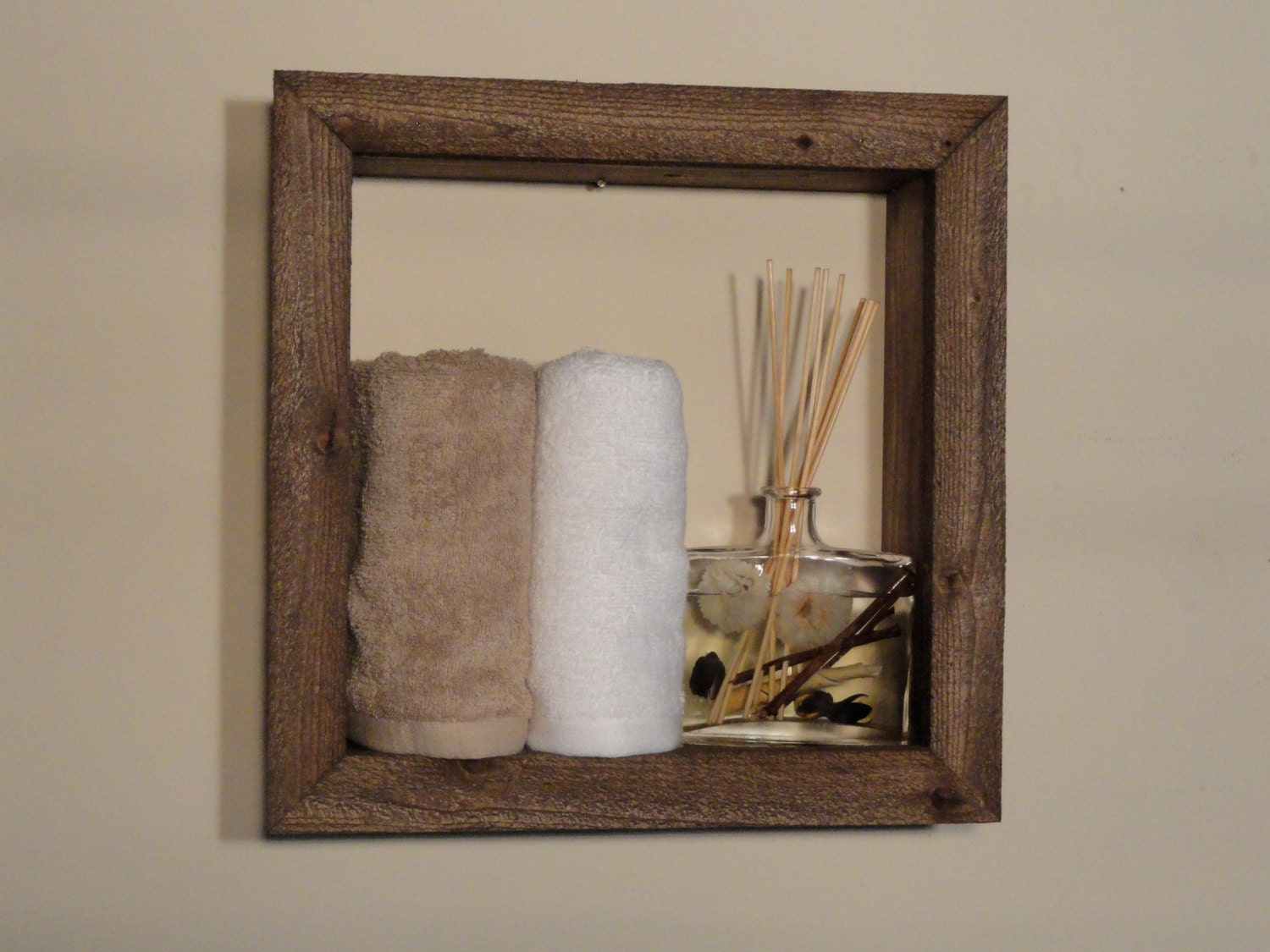 Wall Art Shadow Box : Rustic shadow box home decor wall by bacustomproducts