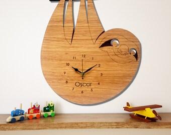 Sloth Wall Clock, Children's Clock