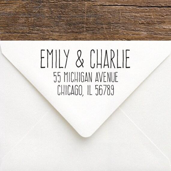 rustic address stamp personalized return address stamp custom