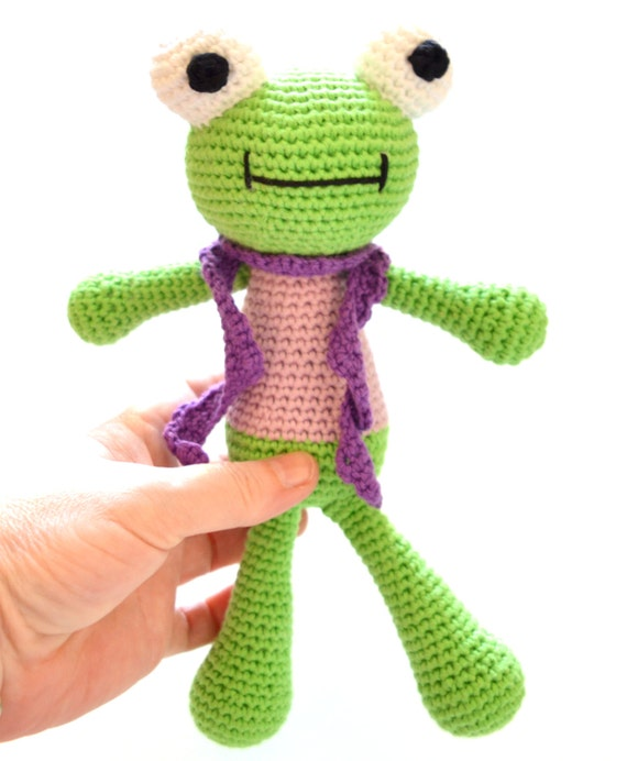Toy Frog amigurumi. Soft baby toy. Lucky by ...
