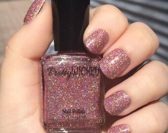 Pink Holographic Nail Polish, Anastasia Polish, Pink Holo Nails, Holographic Nail Polish, Glitter Nail Polish