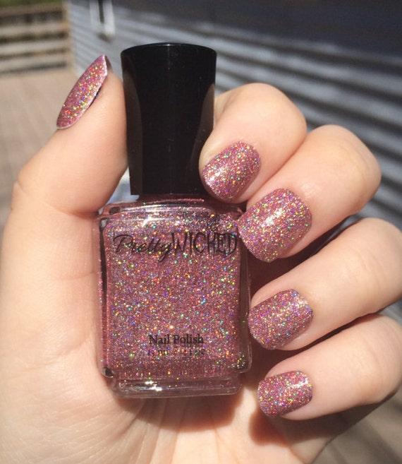 Pink Holographic Nail Polish Anastasia Polish Pink Holo
